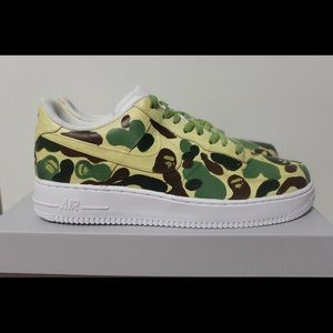 Nike Air Force 1 Low Custom Bape Sneaker Size 10.5
